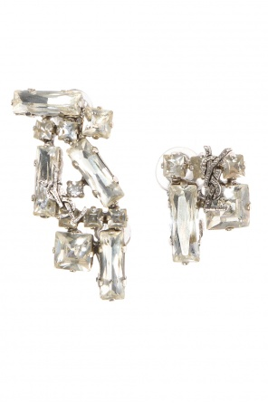 Encrusted clip-on earrings od Saint Laurent