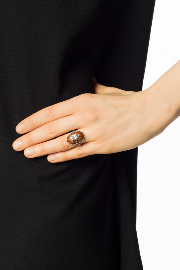 Ring with cubic zirconia od Bottega Veneta