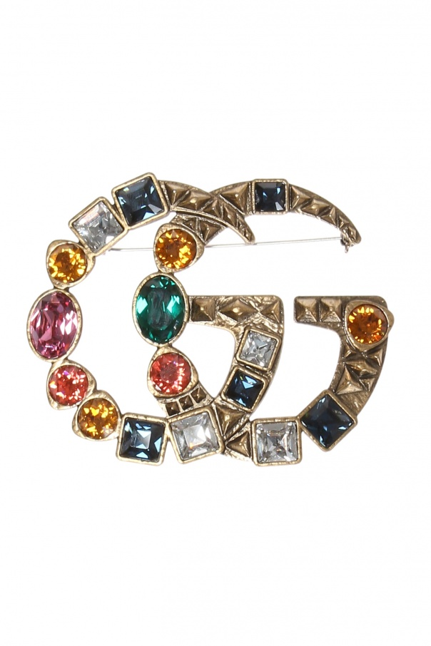Gucci Logo-shaped brooch