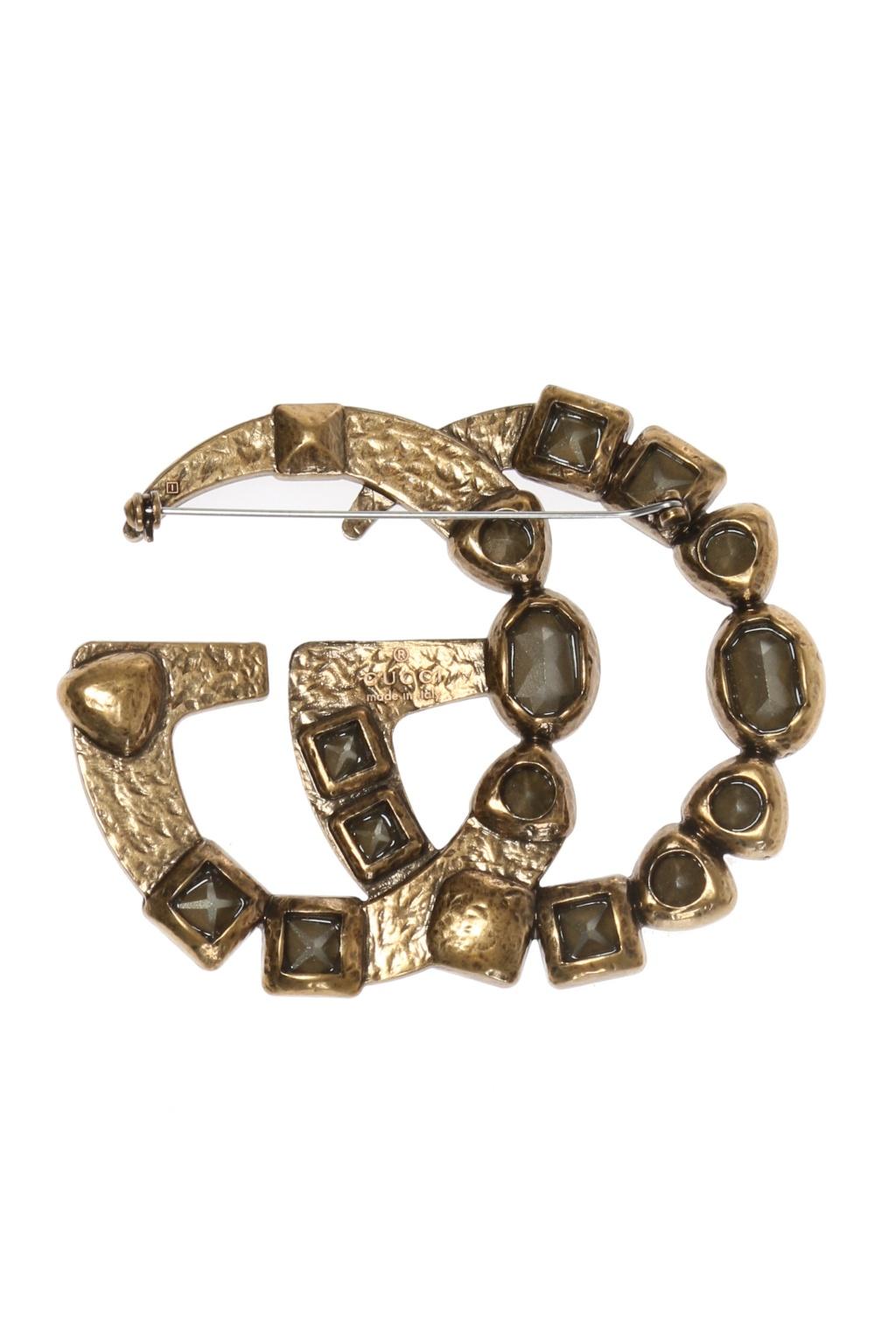 Gucci Logo-shaped brooch