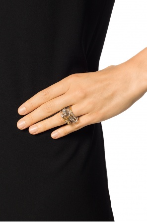 Ring with 5 loops od Bottega Veneta