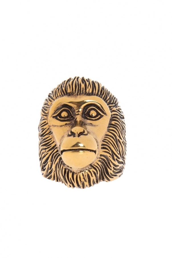Ring with a monkey's head motif od Gucci
