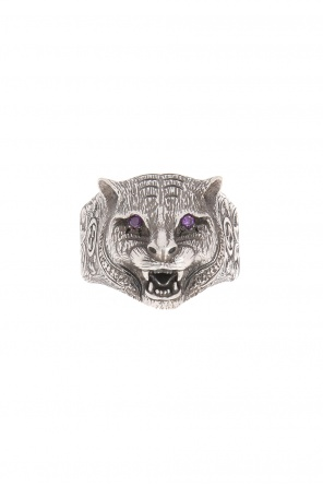Ring with a cat's head motif od Gucci