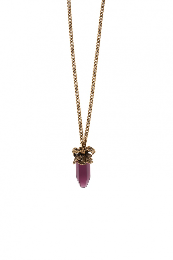 Necklace with a floral motif od Alexander McQueen