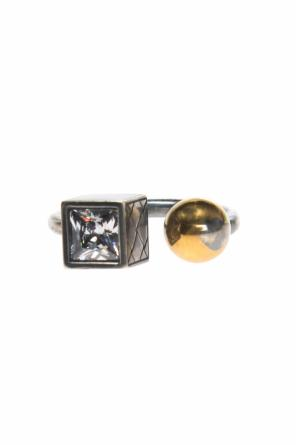 Silver ring with a swarovski crystal od Bottega Veneta