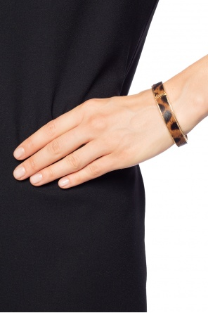 Brass bracelet with leopard print od Saint Laurent