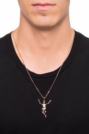 Necklace with a skeleton motif od Alexander McQueen