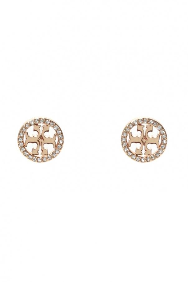 Tory Burch 'Miller Pavé Stud' earrings with logo