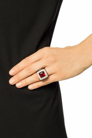 Embellished silver ring od Gucci