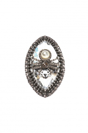 Ring with a  swarovski crystal od Alexander McQueen