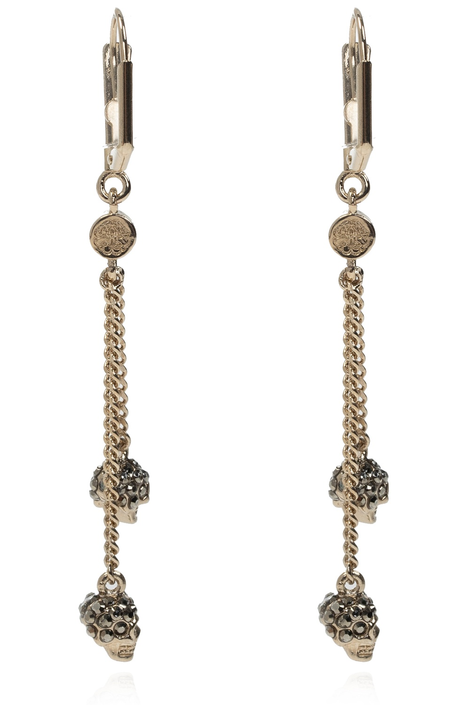 Alexander McQueen Skull motif earrings
