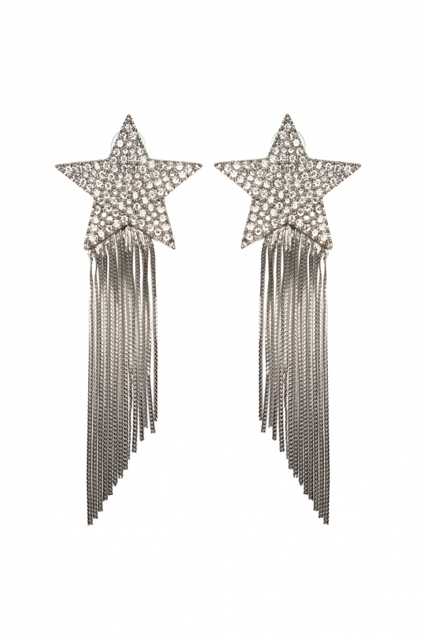 Saint Laurent Star-shaped clip-ons