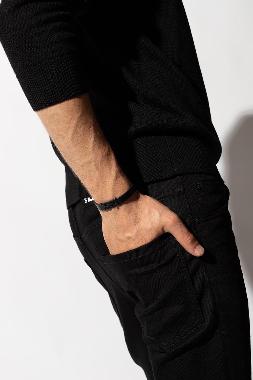 Saint Laurent Leather bracelet with logo