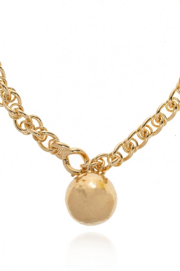 Bottega Veneta Necklace with round pendant