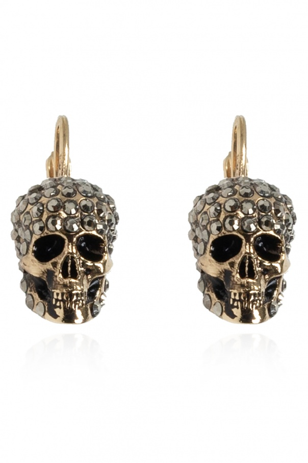 Alexander McQueen Skull motif earrings