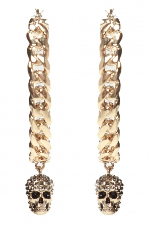Skull earrings od Alexander McQueen