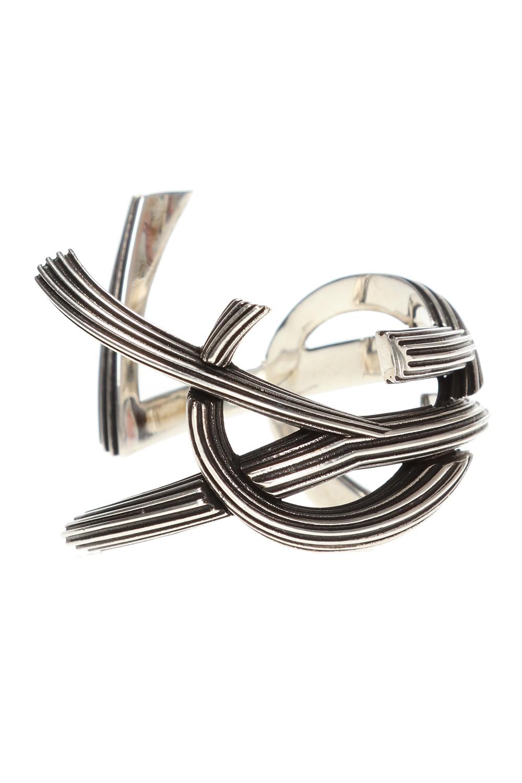 Saint Laurent Brass monogram bracelet