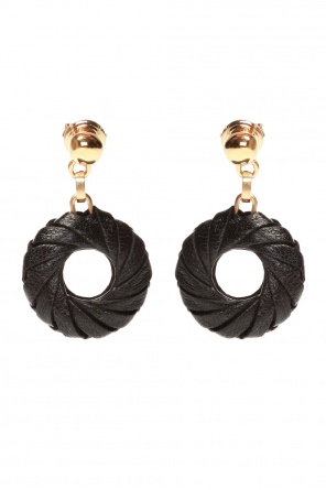 Leather-trimmed earrings od Bottega Veneta