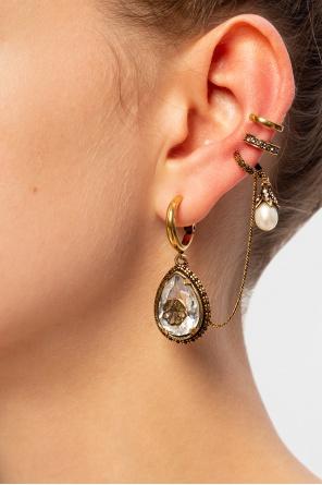 Charm seal droplet ear cuff od Alexander McQueen