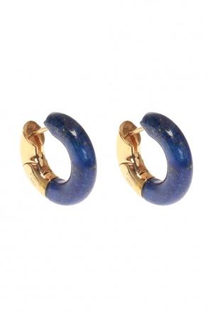 Gold plated earrings od Bottega Veneta