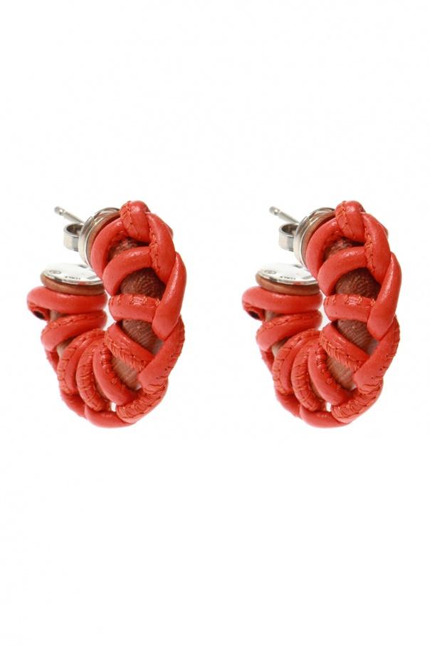Bottega Veneta Earrings with woven details