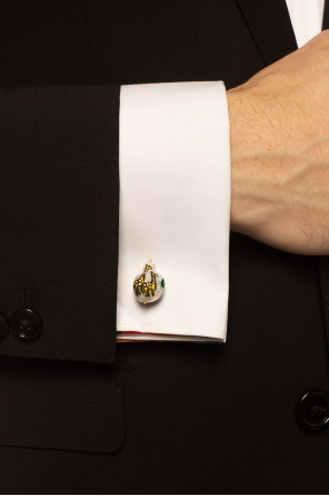 Pearl cufflinks od Bottega Veneta