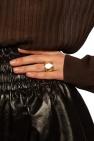 Bottega Veneta Pozłacany pierścień