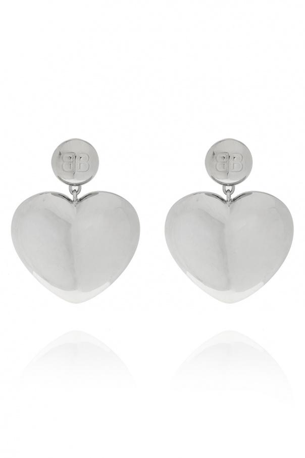 Balenciaga Heart motif earrings