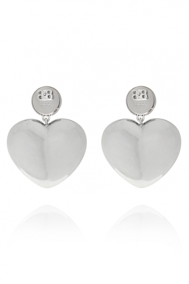 Heart motif earrings od Balenciaga