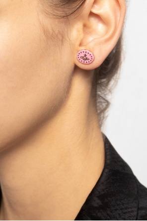 'lazarus' earrings with logo od Vivienne Westwood