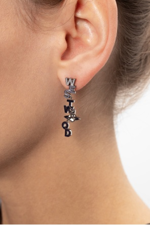 'soho' earrings with logo od Vivienne Westwood