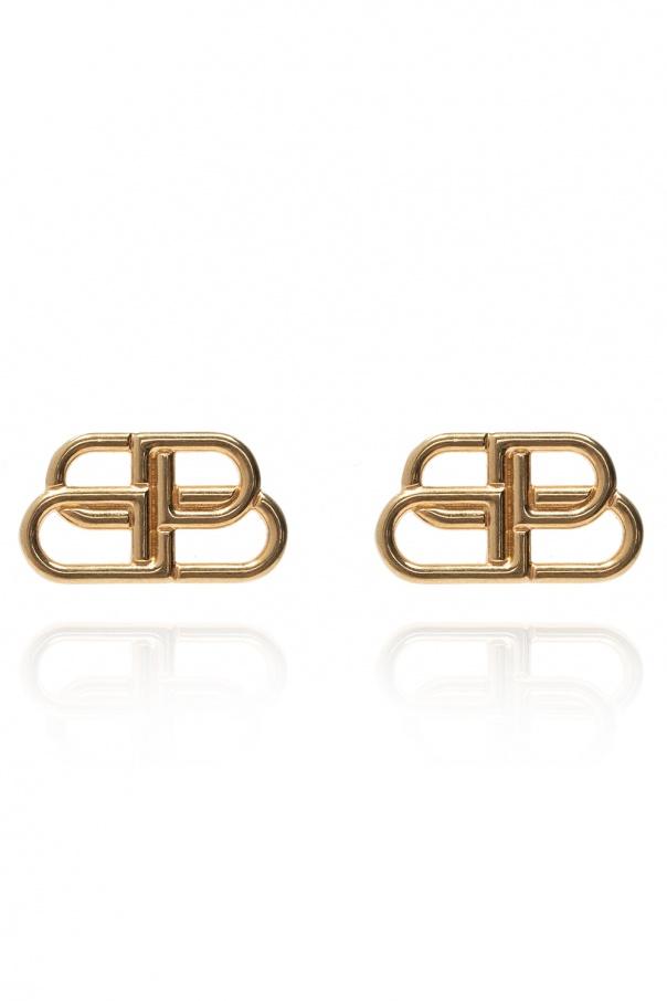 Balenciaga BB motif earrings