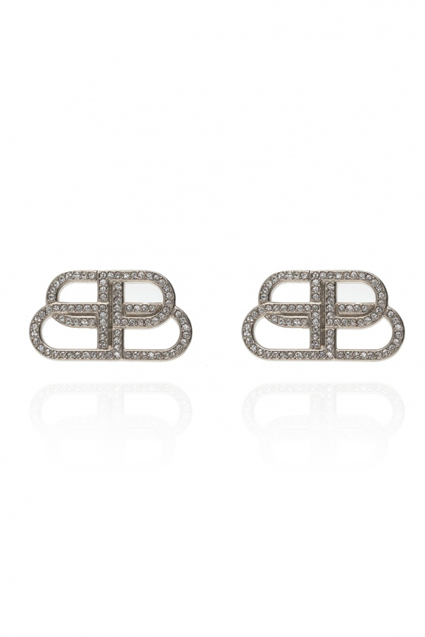 Balenciaga BB motif earrings
