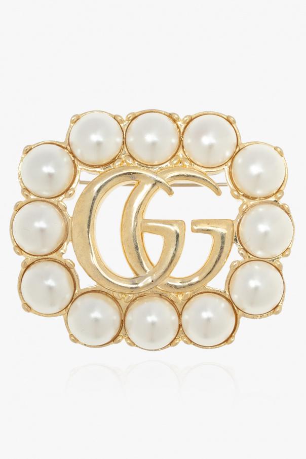 Gucci Logo brooch