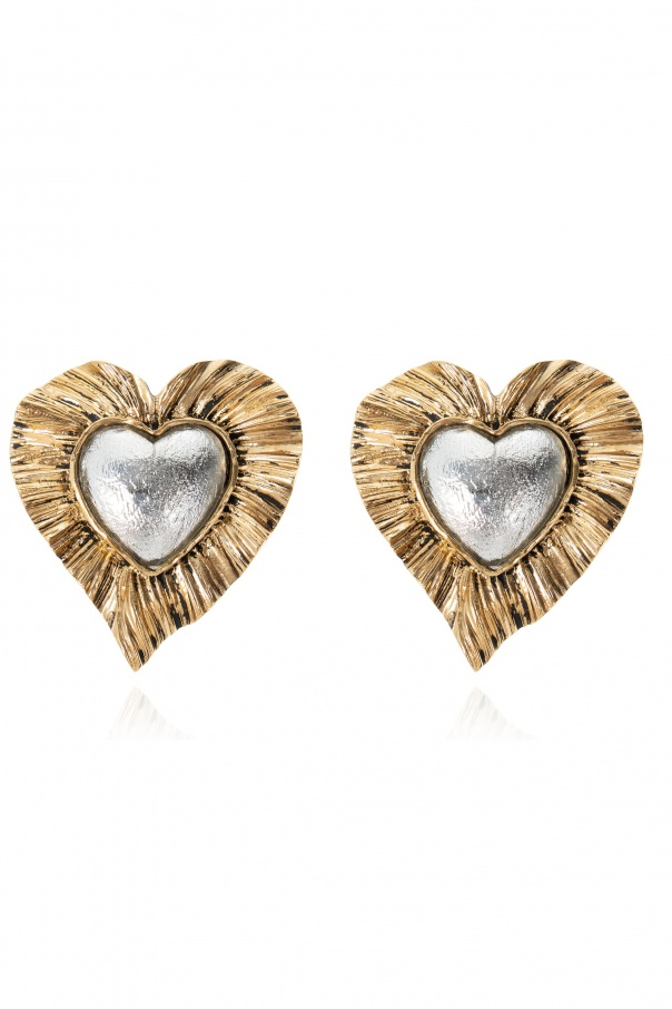 Saint Laurent Brass clip-on earrings