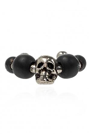 Skull motif eardrop od Alexander McQueen