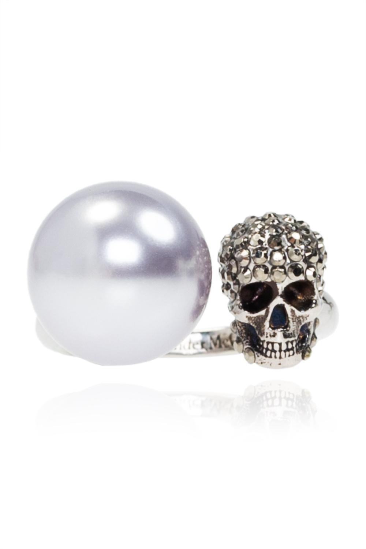 Alexander McQueen Ring with motif of skull