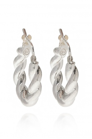 Silver earrings od Bottega Veneta