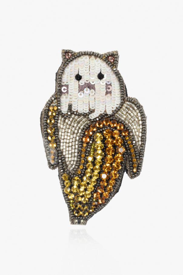 Gucci Broszka z cekinami