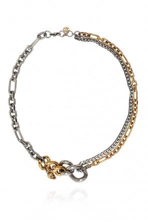 Skull motif necklace od Alexander McQueen