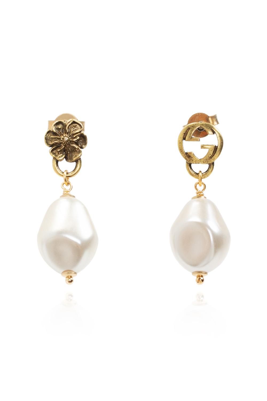 Gucci Glass pearl earrings