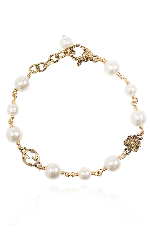 Gucci Glass pearl bracelet