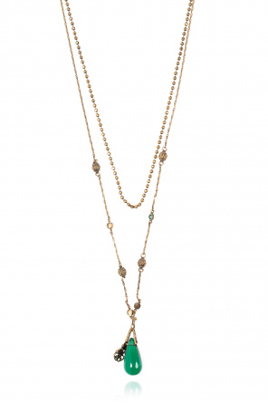 Double necklace with charm od Alexander McQueen