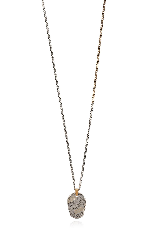 Alexander McQueen Necklace with logo pendant