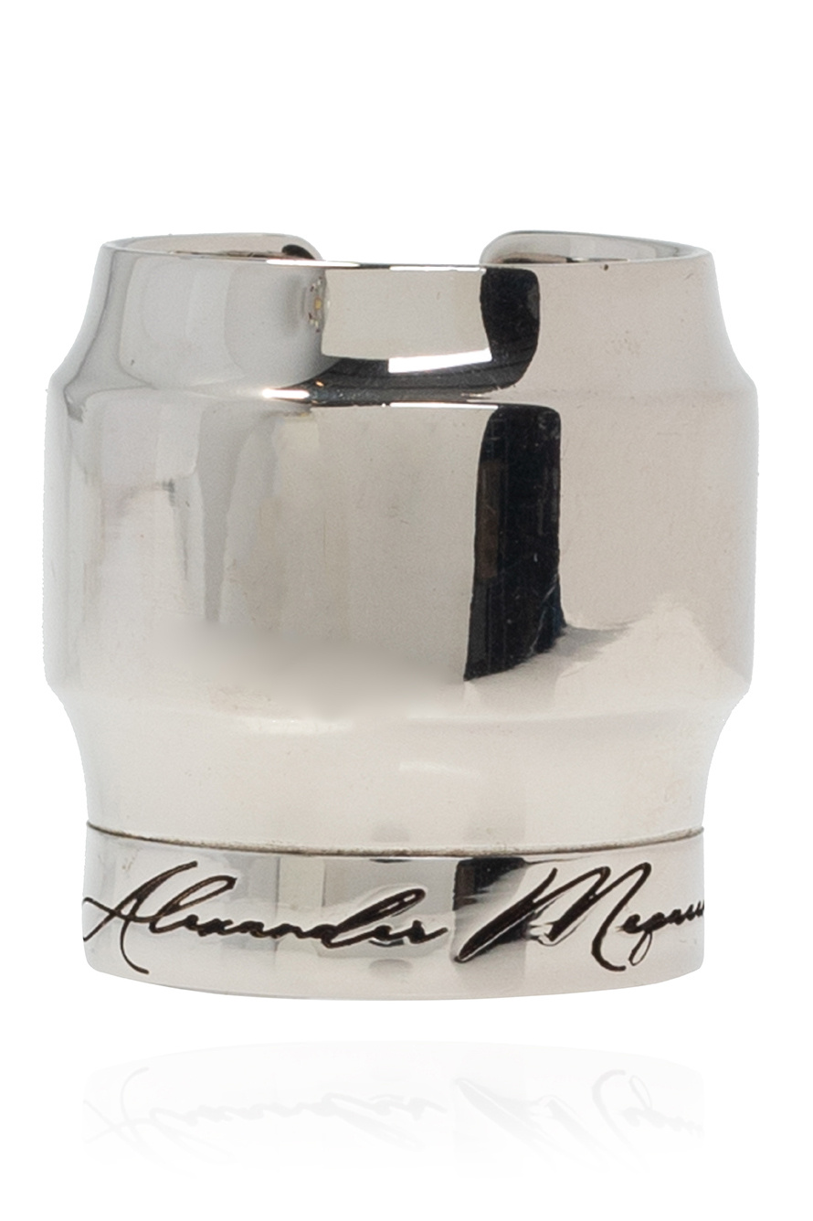 Alexander McQueen Pierścień z logo