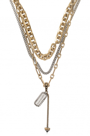 Triple necklace with logo od Alexander McQueen