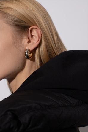 Round earrings with logo od Alexander McQueen