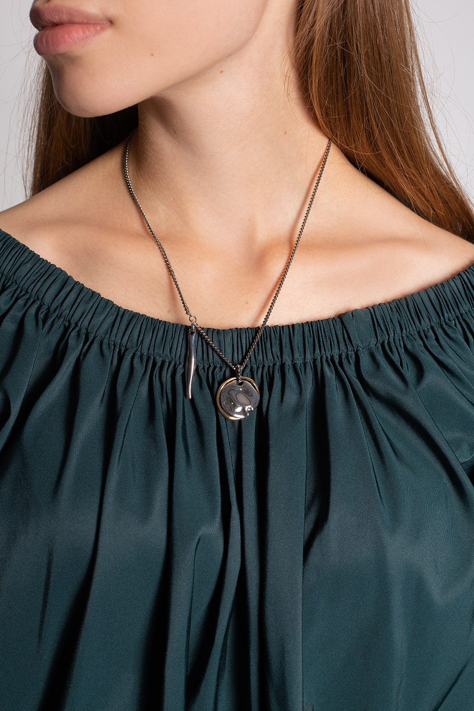 Alexander McQueen Brass necklace