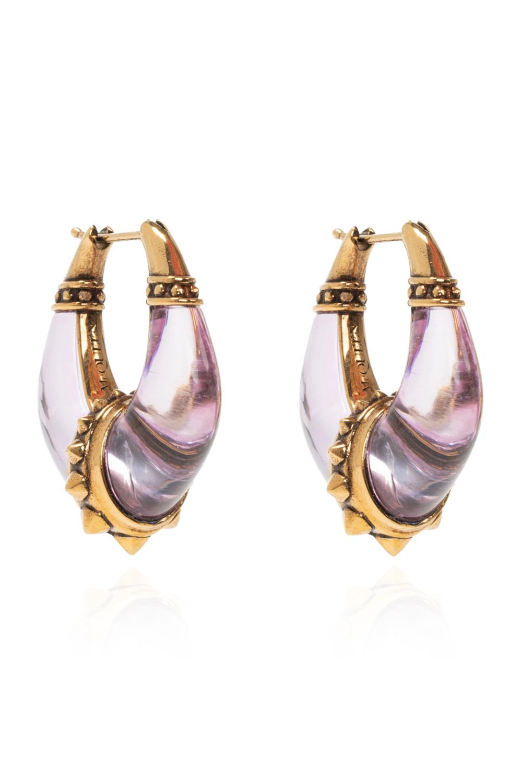Alexander McQueen Glass fiber earrings