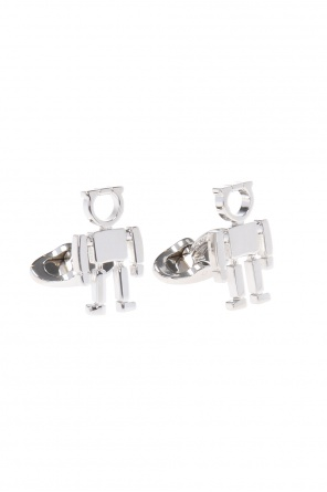 Brass cuff links od Salvatore Ferragamo